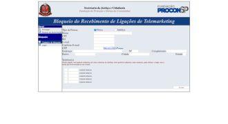 Datos que deben proporcionarse para bloquear la recepción de llamadas de telemercadeo.