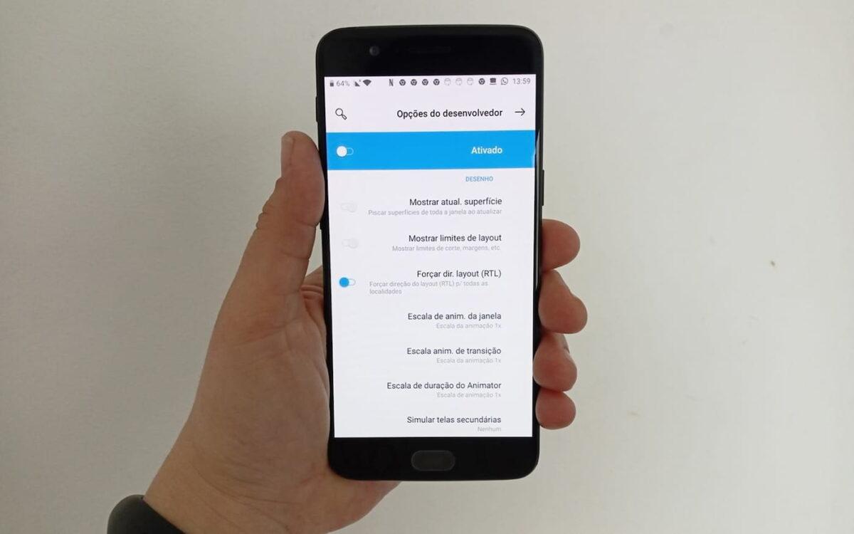 ¿Cómo activar el diseño para zurdos en Android?