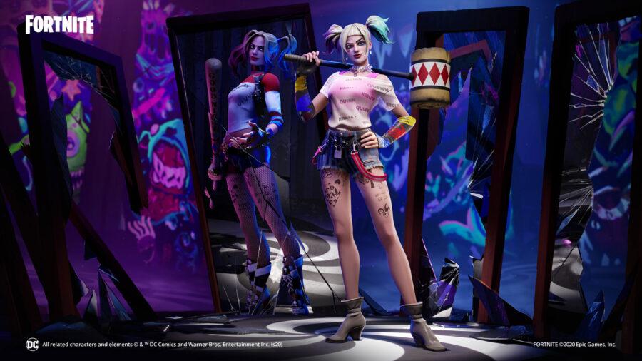 Fondo de pantalla de Fortnite Harley Quinn