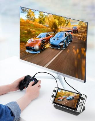 GPD Win 3 conectado a un televisor.