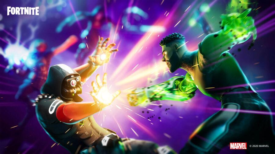 Fondo de pantalla de Fortnite Marvel Takeover