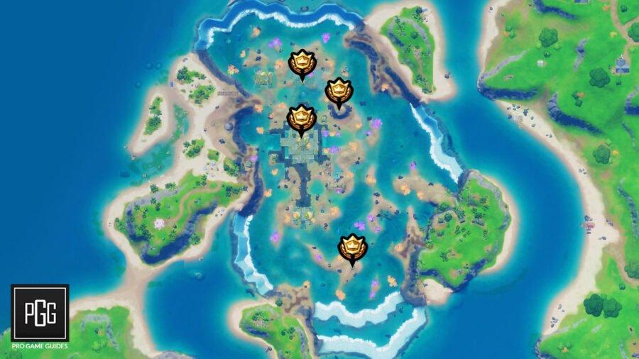 Ubicación del mapa de anillos flotantes de Coral Castle