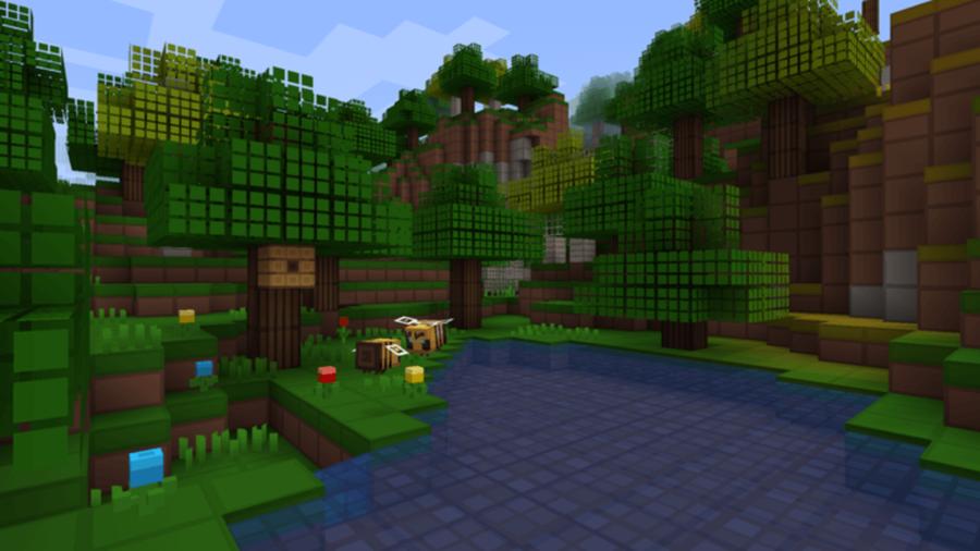 Paquete de textura de cuadrícula de píxeles en Minecraft.