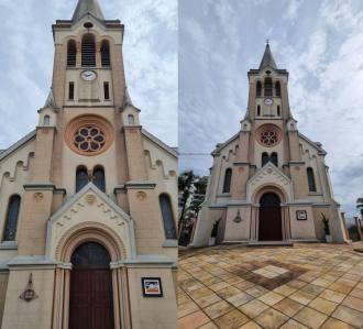 Vea la diferencia en las fotos con la cámara principal y la cámara ultra ancha.  (Imagen: Oficina da Net / Nícolas Müller)