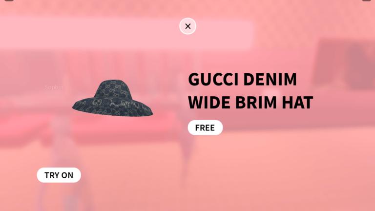 Roblox Gucci Garden: Cómo obtener el sombrero de ala ancha de mezclilla Gucci gratis