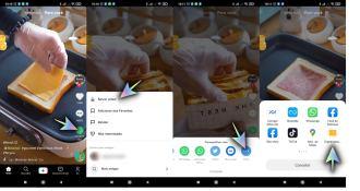 Descarga el video de TikTok en Android.