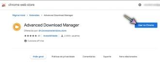 Imagen: Extensión Advanced Download Manager.