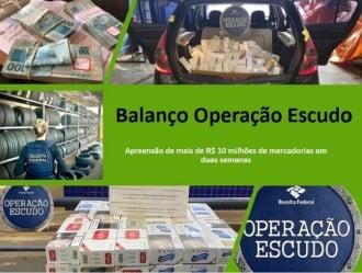 En dos semanas, Operación Escudo incautó más de R $ 10 millones.  (Imagen: Reproducción / Ingresos federales)