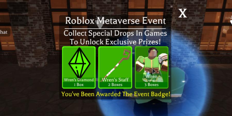 Ganar la insignia de Wren del evento metaverso.